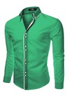 Camisa Algodon Slim Fit Lcc45 Green