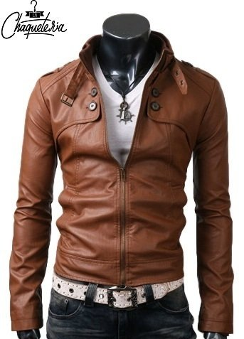 Chaqueta En Cuero Manmuso Honey