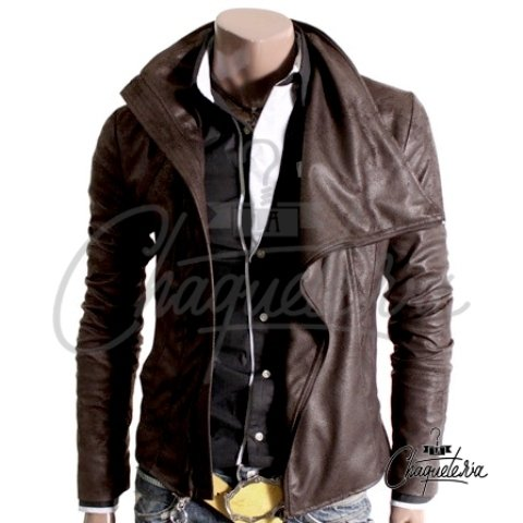 Chaqueta en CUERO Envejecido ; Ref: Spirit Dark Brown - Marca LaChaqueteria on internet