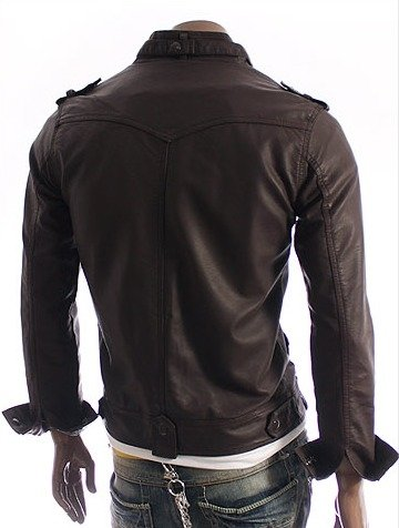 Chaqueta En Cuero Jin Dark Brown
