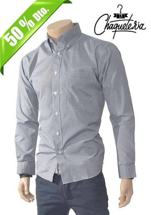 Camisa Algodón Slim Fit trali Grey