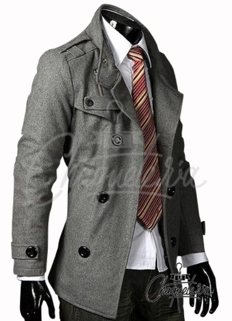 Abrigo Slim Fit Mago Grey