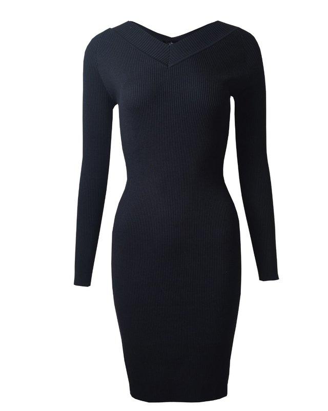 Vestidos tejidos negro