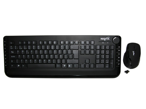 Teclado  y mouse wireless USB con 16 teclas multimedia - comprar online