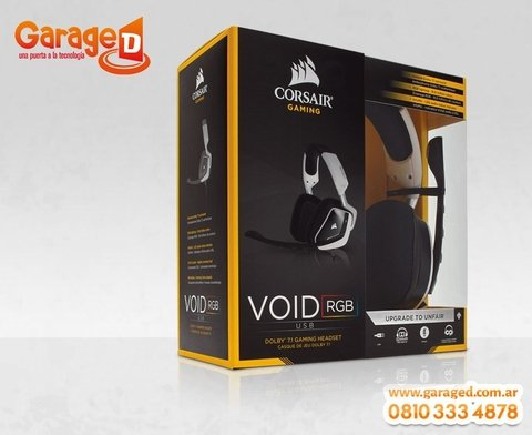 Headset Corsair VOID USB Dolby 7.1 White en internet