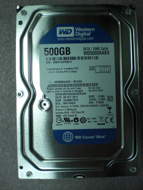 disco rígido western digital 500gb. sata3 3.5