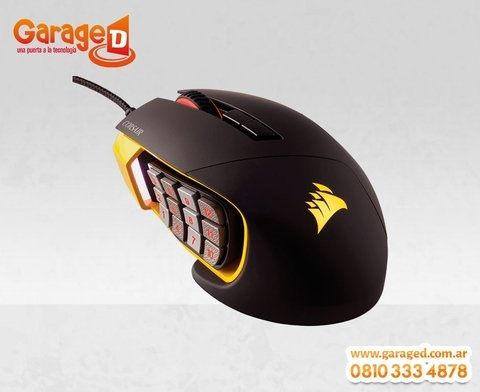 Mouse Corsair Gaming Scimitar RGB 12000 DPI Optical MOBA/MMO - comprar online