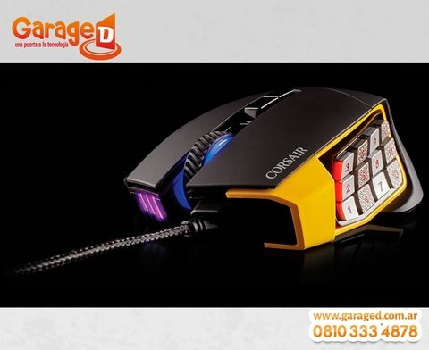 Mouse Corsair Gaming Scimitar RGB 12000 DPI Optical MOBA/MMO en internet