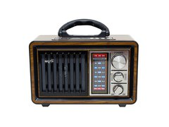 Radio AM/FM vintage con MP3/BT,AUX, Linterna