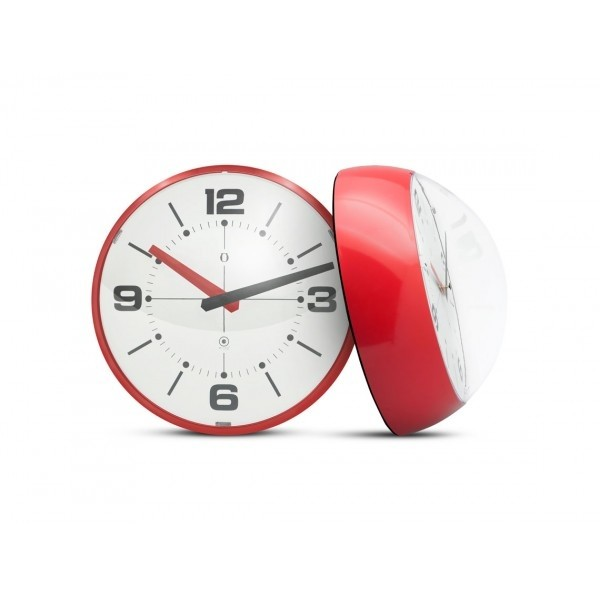 Ball Wall clock blanco/rojo - comprar online