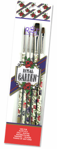 8302 ROYAL GARDEN FILBERT/ ANGULAR BRUSH SET - Cleo Art Club