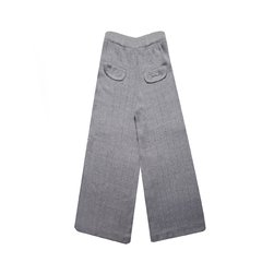 CIPRES FLANNEL WIDE PANTS WITH OPENWORK LINES CODE 2404 - buy online