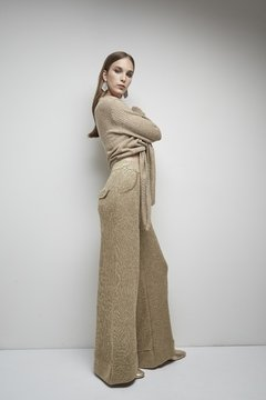 PALADIUM WIDE PANTS WITH LUREX CODE 2707