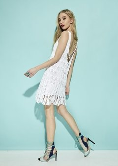 VESTIDO CORTO CROCHET PARTY ART 2213 - comprar online