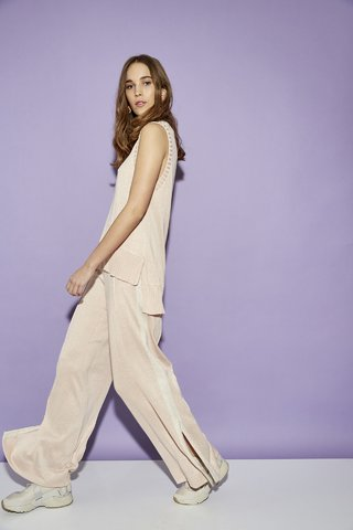 THRUSH BIRD WIDE PANTS WITH SIDE STRIPE CODE 2605