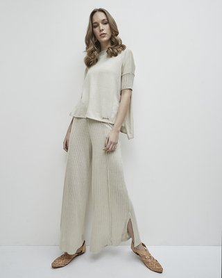 "CODE 2812 ""GRACE"" LOOSE-FITTING SWEATER TOP WITH BACK NECKLINE"