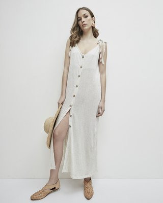 "CODE 2815 ""DANI"" LONG DRESS WITH COCONUT BUTTONS"