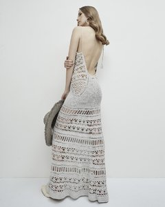 "CODE 2803 ""CAROLINE"" HANDMADE CROCHET LONG DRESS on internet"