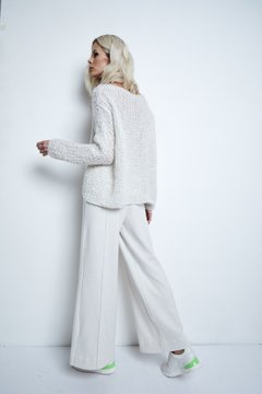 GERANIO PREMIUM MOHAIR HANDMADE SWEATER WITH MICRO SEQUINS CODE 2921 - online store