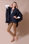 Alps Poncho Coat Code 1736