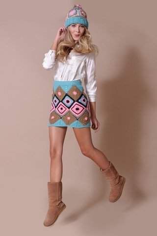 Swiss Jacquard Mini Skirt Code1526