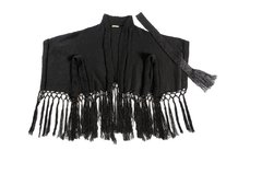 DIAMOND FRINGED PONCHO CODE 2128 - online store