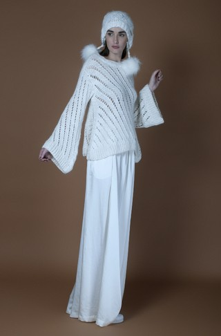 FEBRUARY OPENWORK A-LINE PREMIUM ANGORA SWEATER (CAPSULE COLLECTION) CODE 2132