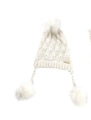 MARCH PREMIUM ANGORA HAT WITH FAUX FUR POMPOMS (CAPSULE COLLECTION) CODE 2133