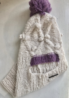 Gorro Tapaboca en Mohair, 100% artesanal Art 2928 -NEW IN!- on internet