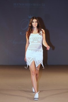 "Vestido Hand Made Beachwear Art 1617, el que se vio en el Desfile de ""AB""! on internet"