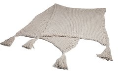 Image of XL COTTON STOCKINETTE BLANKET WITH TASSELS 0.90 X 2.30M CODE 2049 -HOME COLLECTION-