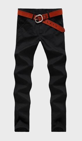 Pantalon Casual Recto Slim Fit Moderno - Negro