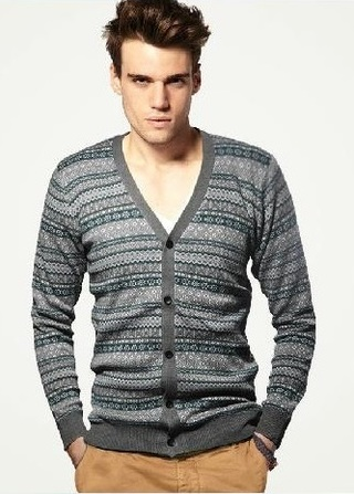 Sweater / Cardigan Clasico Fashion - Gris