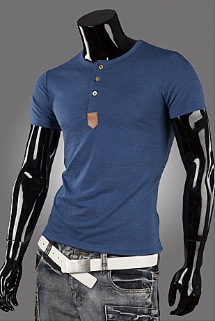 Casual shirt Fashion with Buttons - in Blue, Gray, White and Black