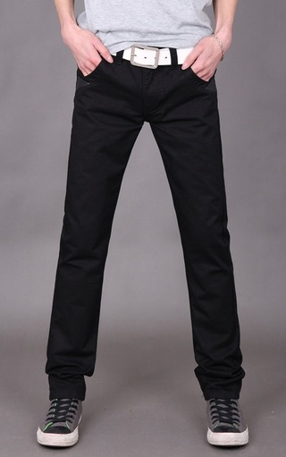 Pantalon Recto Fashion Clasico - Negro