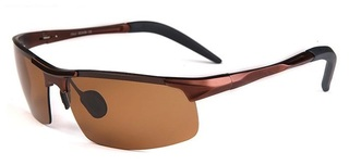 Male Driving Polarized Glasses - Brown Frame