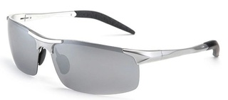 Male Driving Polarized Glasses - Silver Lenses