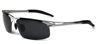 Male Driving Polarized Glasses - Silver Frame