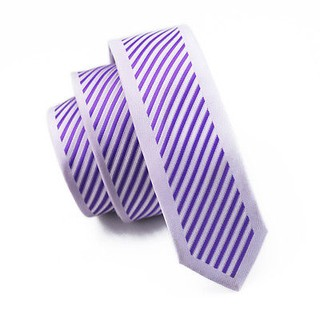 Corbata Slim Janson&Vogue - a Rayas - Purpura