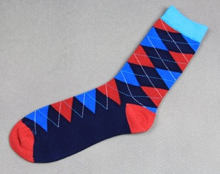 Colorful Modern Fashion Sock - Red/Blue