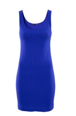 Casual Drees Short in Cotton - Blue