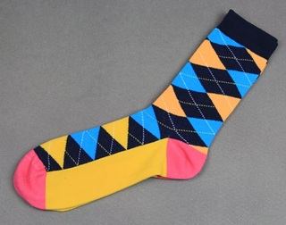 Colorful Modern Fashion Sock - Yellow/Blue