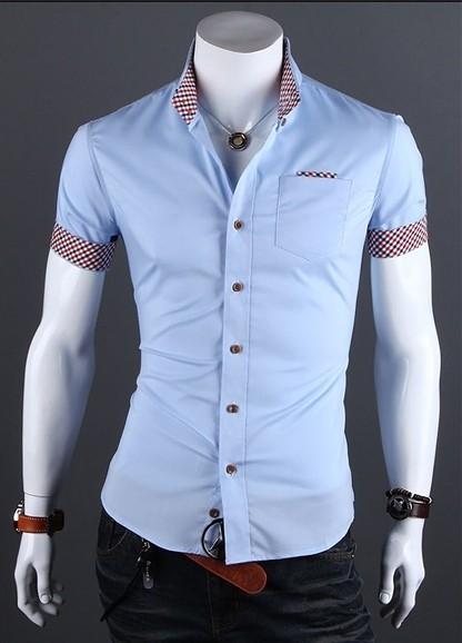462e0159d0 Camisa Casual Slim Fit Manga Corta - Detalle en Bolsillo y Mangas - Blanca