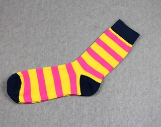 Colorful Modern Fashion Sock - Yellow/Pink