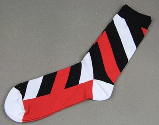 Colorful Modern Fashion Sock - Red/Black