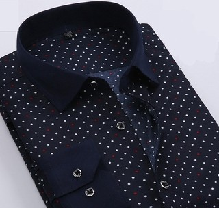 Shirt Casual / Social Plus Size Style Polka - Multicolors Points - Blue