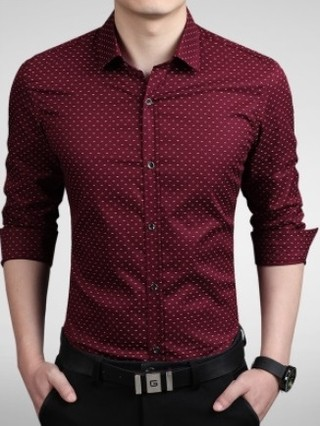 Fashion Casual Shirt with Modern Design - Solid Color - in 5 Colors
