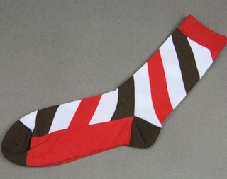 Colorful Modern Fashion Sock - Red/White