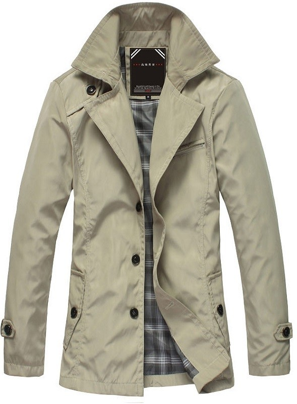 Chaqueta Casual Fashion Slim - Waterproof - Khaki