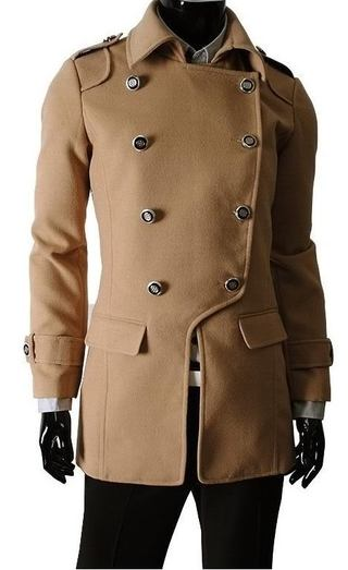 Long coat with Dupla Row of Buttons - Beige (MH500)
